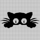 LITTLE CAT CROCHET AFGHAN PATTERN GRAPH