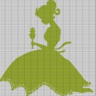 GIRL WITH FLOWER CROCHET AFGHAN PATTERN GRAPH