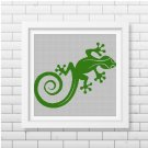 Lizard silhouette cross stitch pattern in pdf 3
