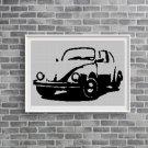 VW beetle silhouette cross stitch pattern in pdf