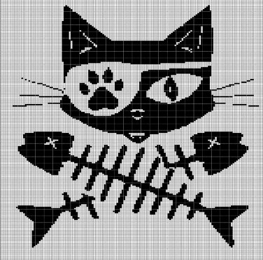 Details about Crochet Patterns - CAT SILHOUETTE Afghan Pattern ... | 372x376