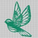 GREEN BIRD CROCHET AFGHAN PATTERN GRAPH