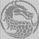 GRAY DRAGON HEAD CROCHET AFGHAN PATTERN GRAPH