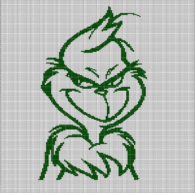 the grinch crochet afghan pattern graph