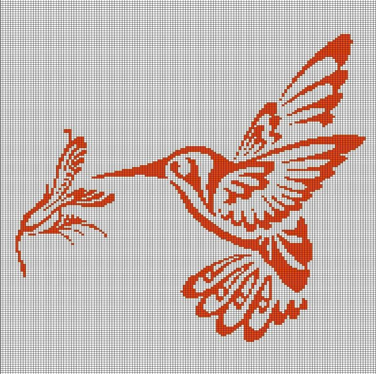 hummingbird and flower crochet afghan pattern graph