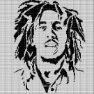 YOUNG BOB MARLEY FACE CROCHET AFGHAN PATTERN GRAPH