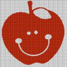 SMILING APPLE CROCHET AFGHAN PATTERN GRAPH