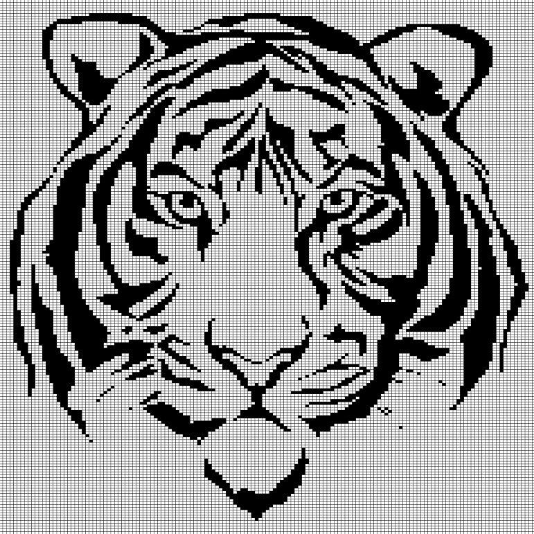 tiger head crochet afghan pattern graph