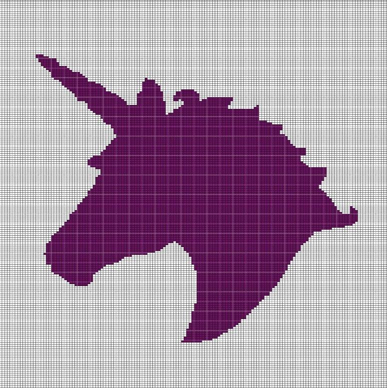unicorn head crochet afghan pattern graph