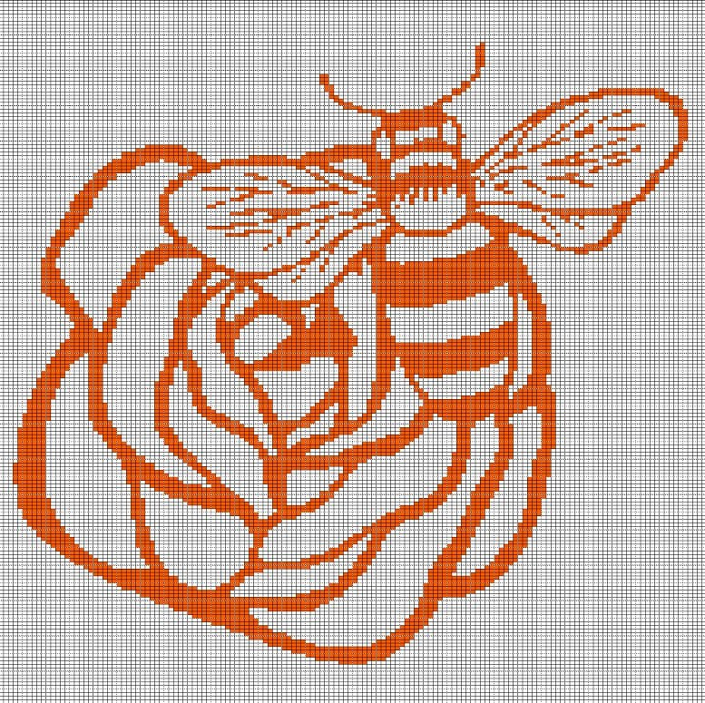 ROSE AND BEE CROCHET AFGHAN PATTERN GRAPH