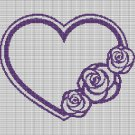 ROSE HEART WREATH CROCHET AFGHAN PATTERN GRAPH