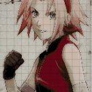 Sakura anime cross stitch pattern in pdf