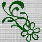 GREEN FLOWER CROCHET AFGHAN PATTERN GRAPH