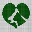 LOVE PETS CROCHET AFGHAN PATTERN GRAPH