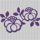 PURPLE FLOWERS CROCHET AFGHAN PATTERN GRAPH