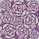 ROSES MOSAIC TAPESTRY STYLE CROCHET AFGHAN PATTERN GRAPH