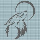 WOLF AND MOON CROCHET AFGHAN PATTERN GRAPH2