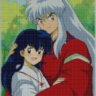 Inuyasha and Kagome anime cross stitch pattern in pdf3