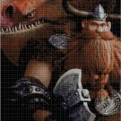 How to train your dragon- Stoick cross stitch pattern in pdf