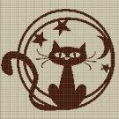 BROWN CAT CROCHET AFGHAN PATTERN GRAPH