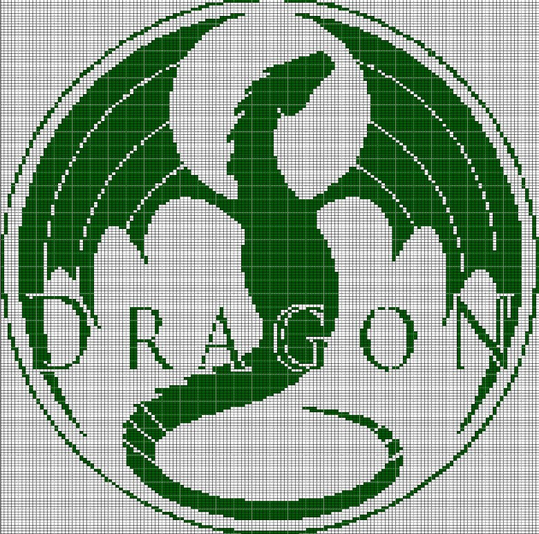 dragon crochet afghan pattern graph