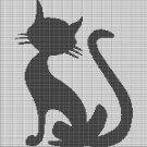 GRAY CAT CROCHET AFGHAN PATTERN GRAPH