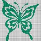 GREEN BUTTERFLY CROCHET AFGHAN PATTERN GRAPH