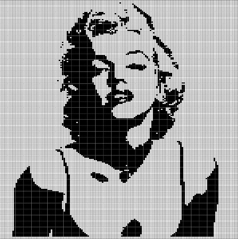 marilyn monroe crochet afghan pattern graph
