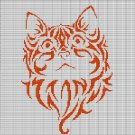 ORANGE CAT HEAD CROCHET AFGHAN PATTERN GRAPH