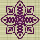 PURPLE MOSIAC TAPESTRY STYLE CROCHET AFGHAN PATTERN GRAPH