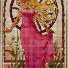 Aurora princess art cross stitch pattern in pdf