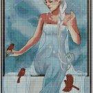 Elsa Princess art cross stitch pattern in pdf