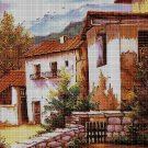 Old House cross stitch pattern in pdf