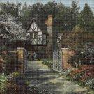 Alder Tree House art cross stitch pattern in pdf DMC