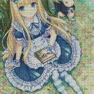 Alice Anime cross stitch pattern in pdf DMC