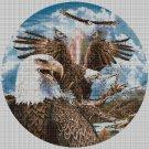 American Eagles art cross stitch pattern in pdf DMC
