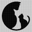 CATS CROCHET AFGHAN PATTERN GRAPH