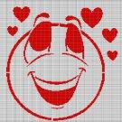 LOVE FACE CROCHET AFGHAN PATTERN GRAPH