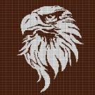 WHITE-BROWN EAGLE HEAD CROCHET AFGHAN PATTERN GRAPH