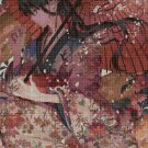Anime girl with umbrella cross stitch pattern in pdf DMC