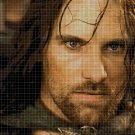ARAGORN- Lord of the rings character cross stitch pattern in pdf DMC