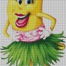 Banana- cross stitch pattern in pdf DMC
