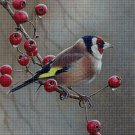 Bird in fall cross stitch pattern in pdf ANCHOR