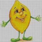 Lemon cross stitch pattern in pdf DMC