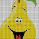 Pear cross stitch pattern in pdf DMC