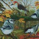Birds cross stitch pattern in pdf DMC