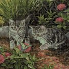Cats cross stitch pattern in pdf DMC