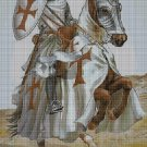 Knights Templar cross stitch pattern in pdf DMC