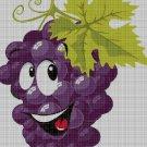 Grape cross stitch pattern in pdf DMC
