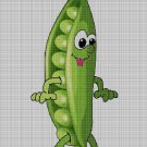 Peas cross stitch pattern in pdf DMC